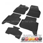Комплект передних и задних ковриков с ковриком перемычкой Тигуан 5NA061505