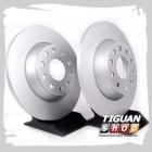 Диск тормозной задний TRW DF4558, аналог 1K0615601AD