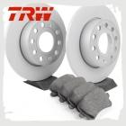 Комплект задних колодок и дисков TRW для Тигуан