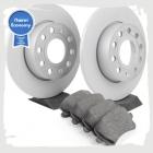 Комплект задних колодок и дисков на Тигуан (VAG Economy)