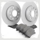 Комплект оригинальных задних колодок и дисков на Тигуан