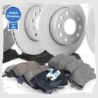 Комплект передних и задних колодок и дисков на Тигуан (VAG Economy)