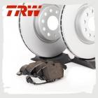Комплект передних колодок и дисков TRW для Тигуан