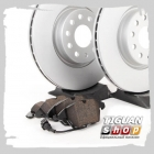 Комплект оригинальных передних колодок и дисков на Тигуан